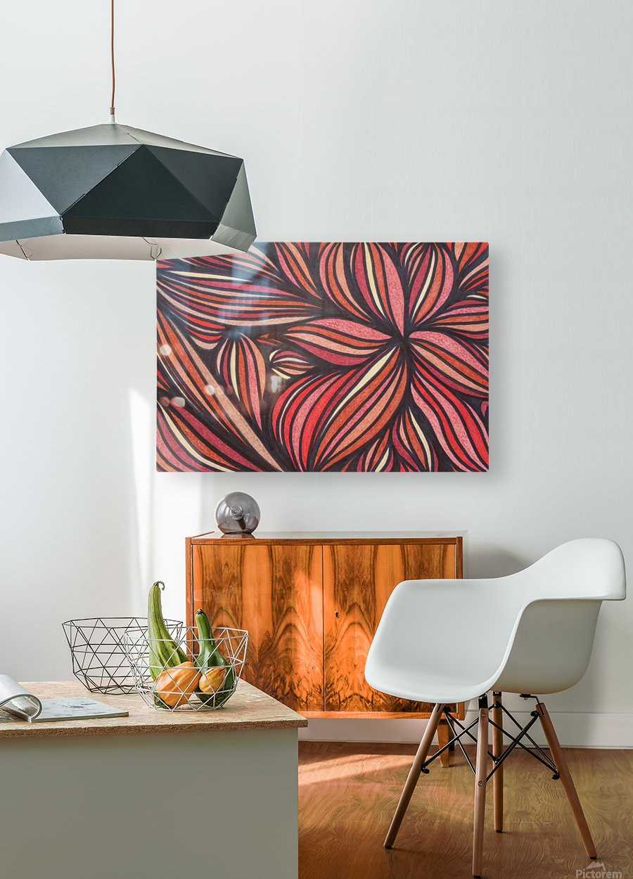 StarFlame   HD Metal print with Floating Frame on Back