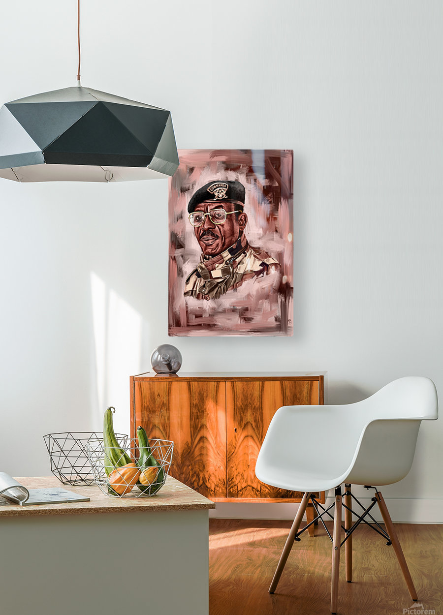 Outgone   HD Metal print with Floating Frame on Back