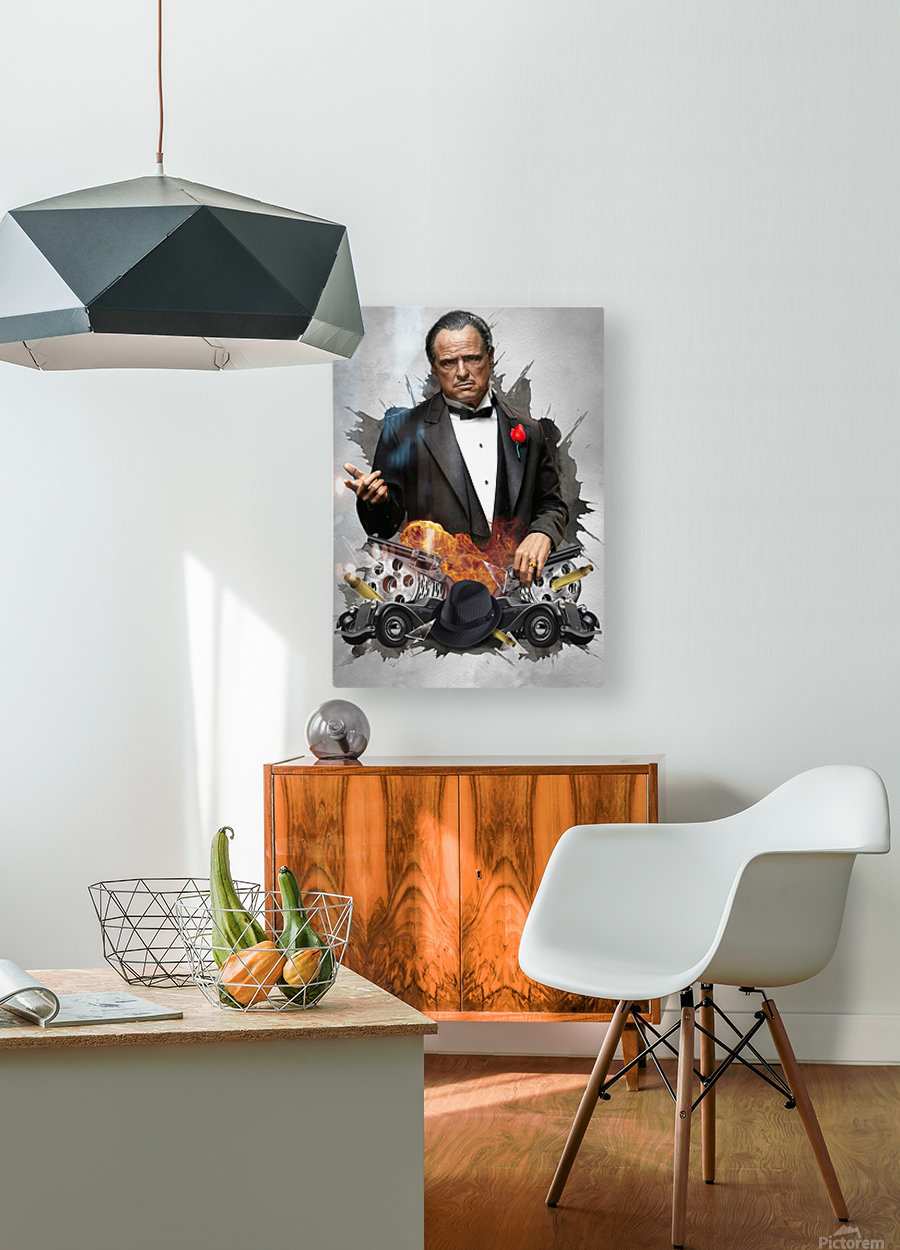 Vito Corleone  HD Metal print with Floating Frame on Back