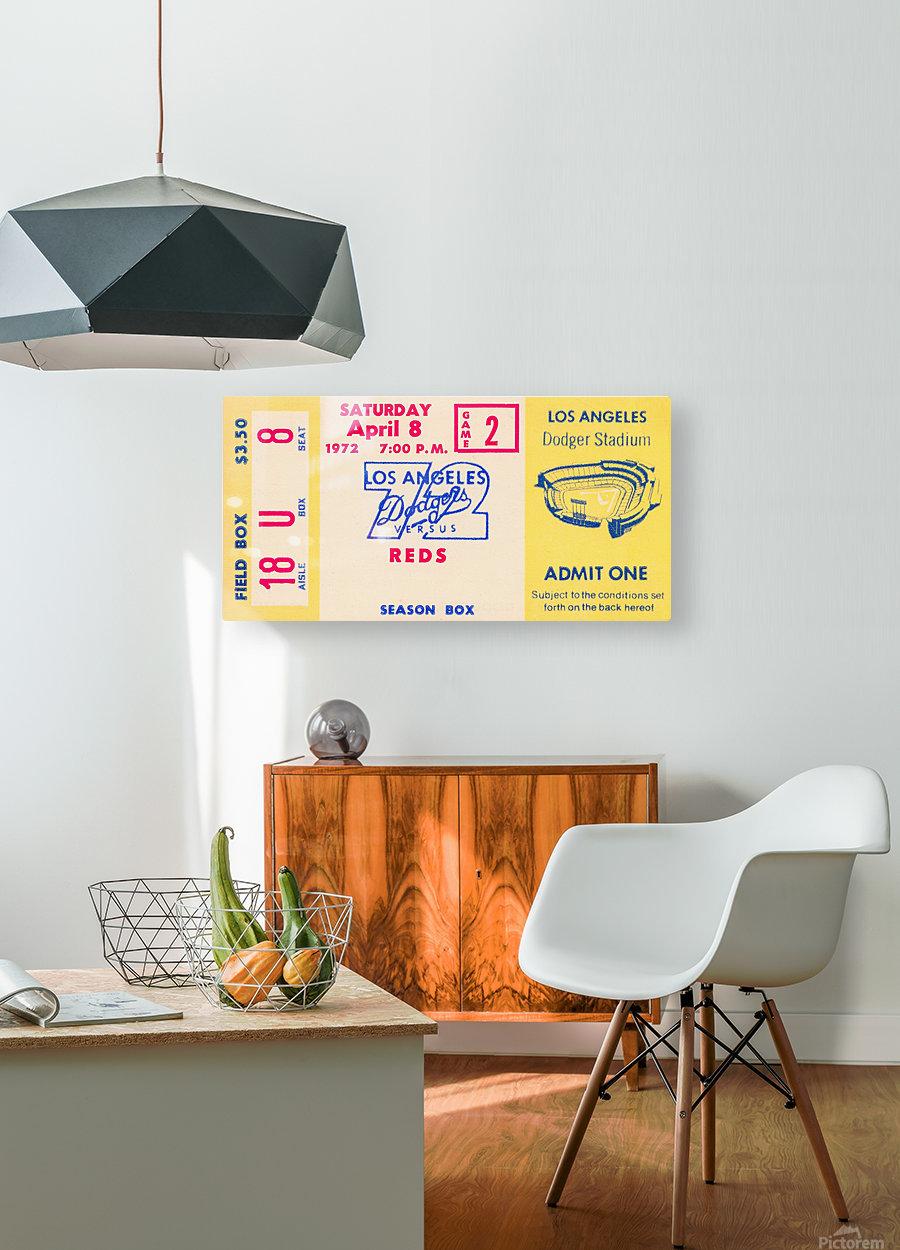 1972 la dodgers field level box baseball ticket stub canvas art  HD Metal print with Floating Frame on Back