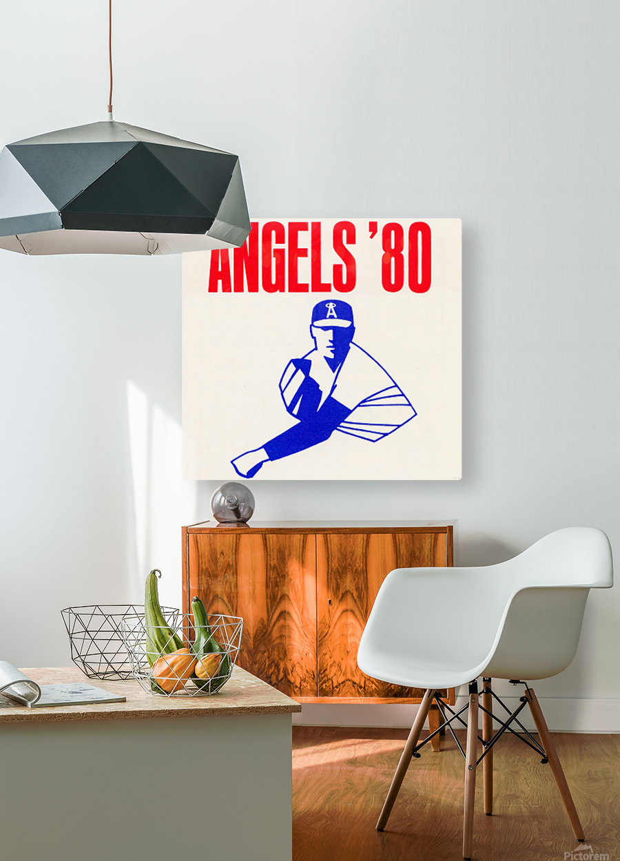 1980 california angels baseball pitcher art  HD Metal print with Floating Frame on Back