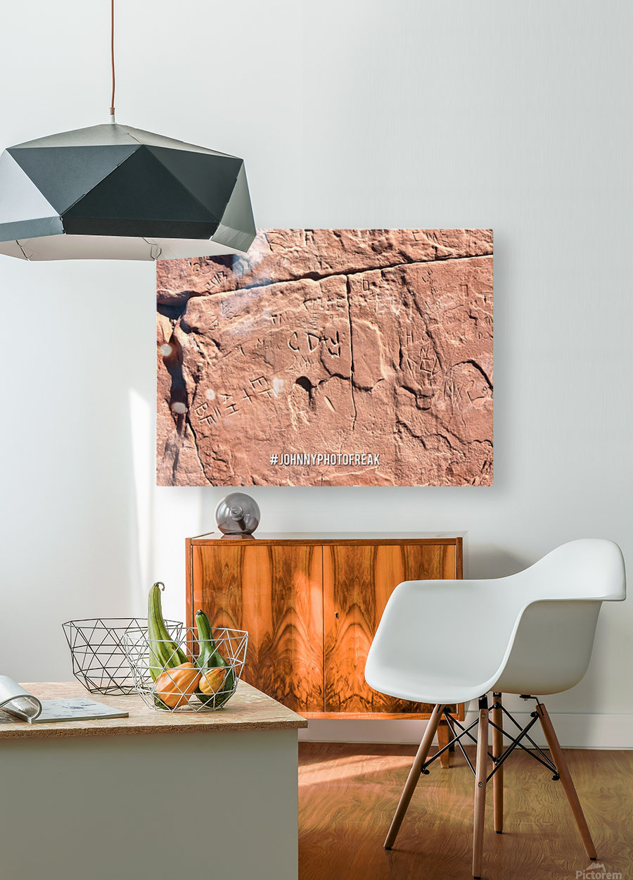 Rock wall   HD Metal print with Floating Frame on Back