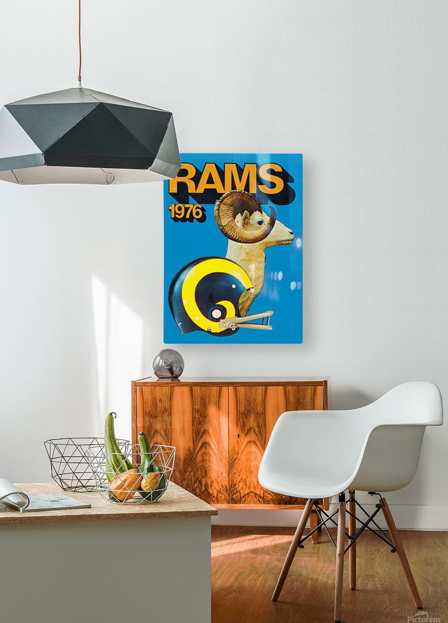 1976 rams vintage nfl poster  HD Metal print with Floating Frame on Back