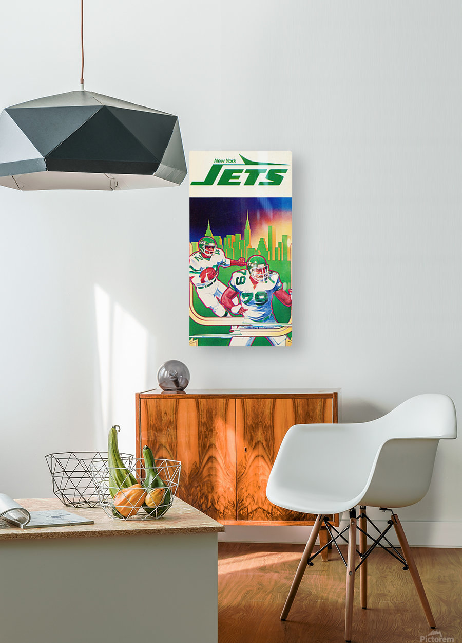 1981 new york jets football art  HD Metal print with Floating Frame on Back