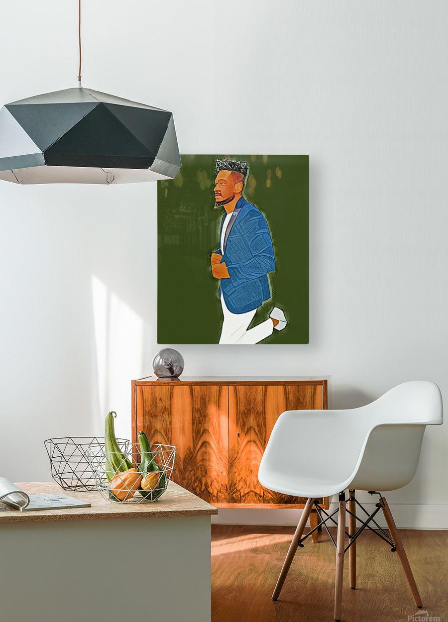 Rapper  HD Metal print with Floating Frame on Back