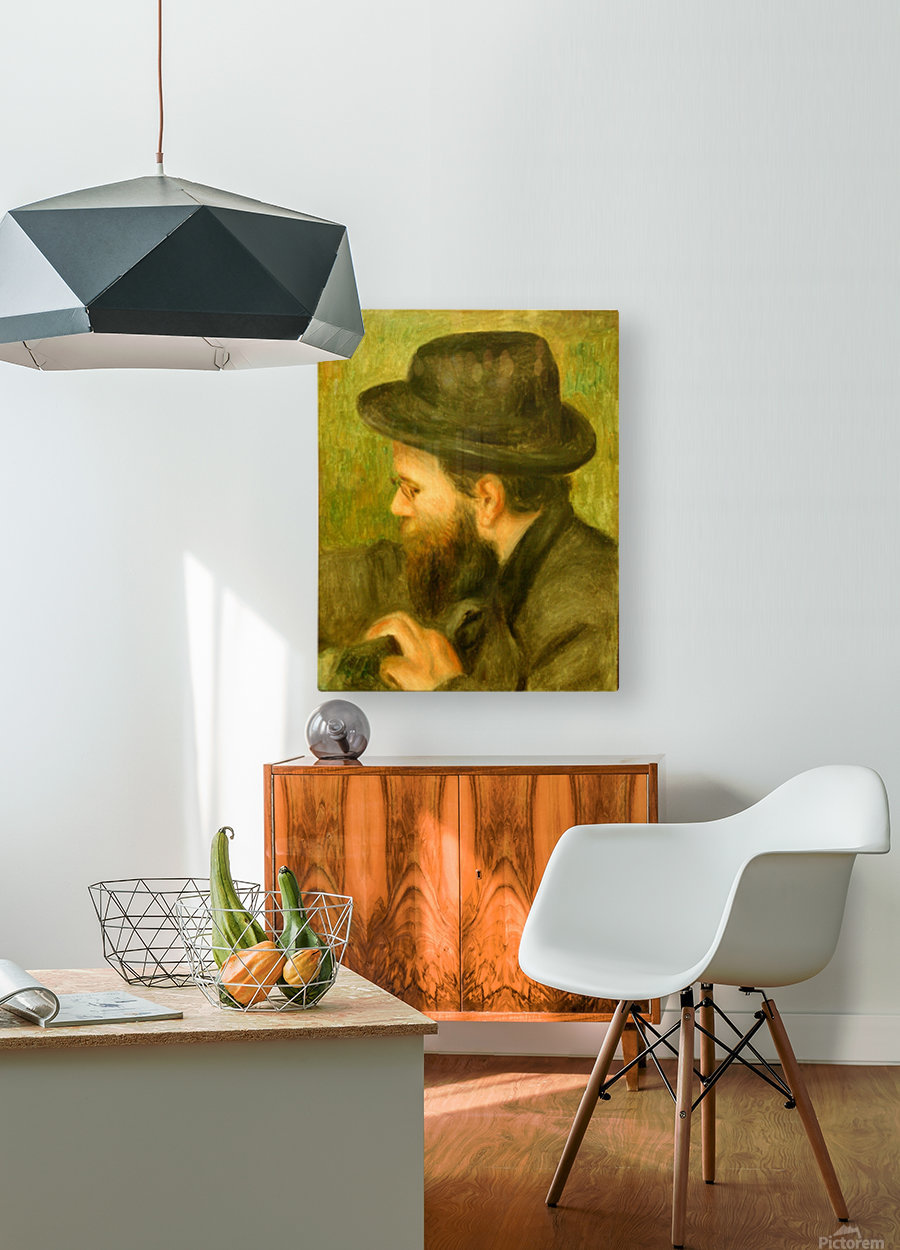 M Bernard man with the black hat  HD Metal print with Floating Frame on Back