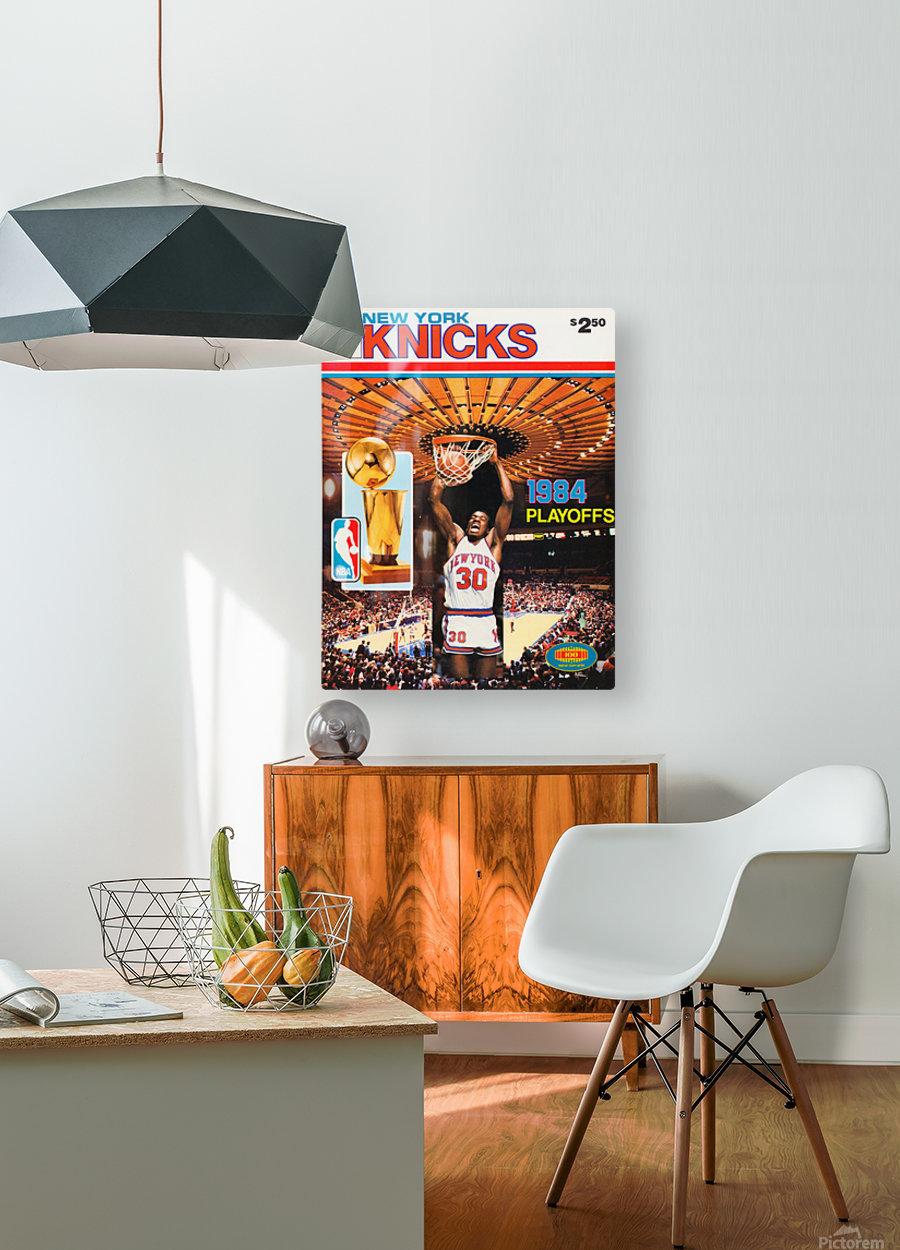 1984 new york knicks nba basketball playoffs bernard king program poster  HD Metal print with Floating Frame on Back