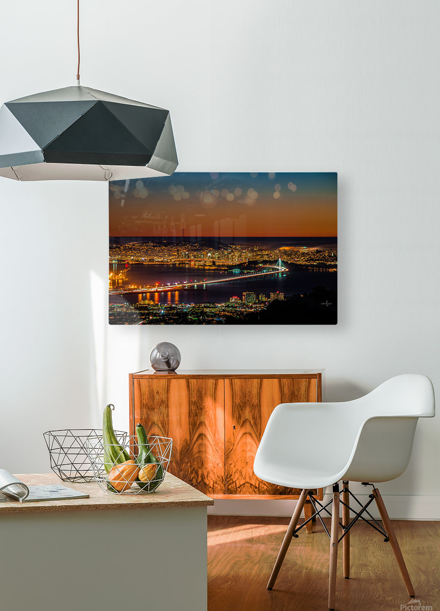 City to City - Berkeley to San Francisco  HD Metal print with Floating Frame on Back