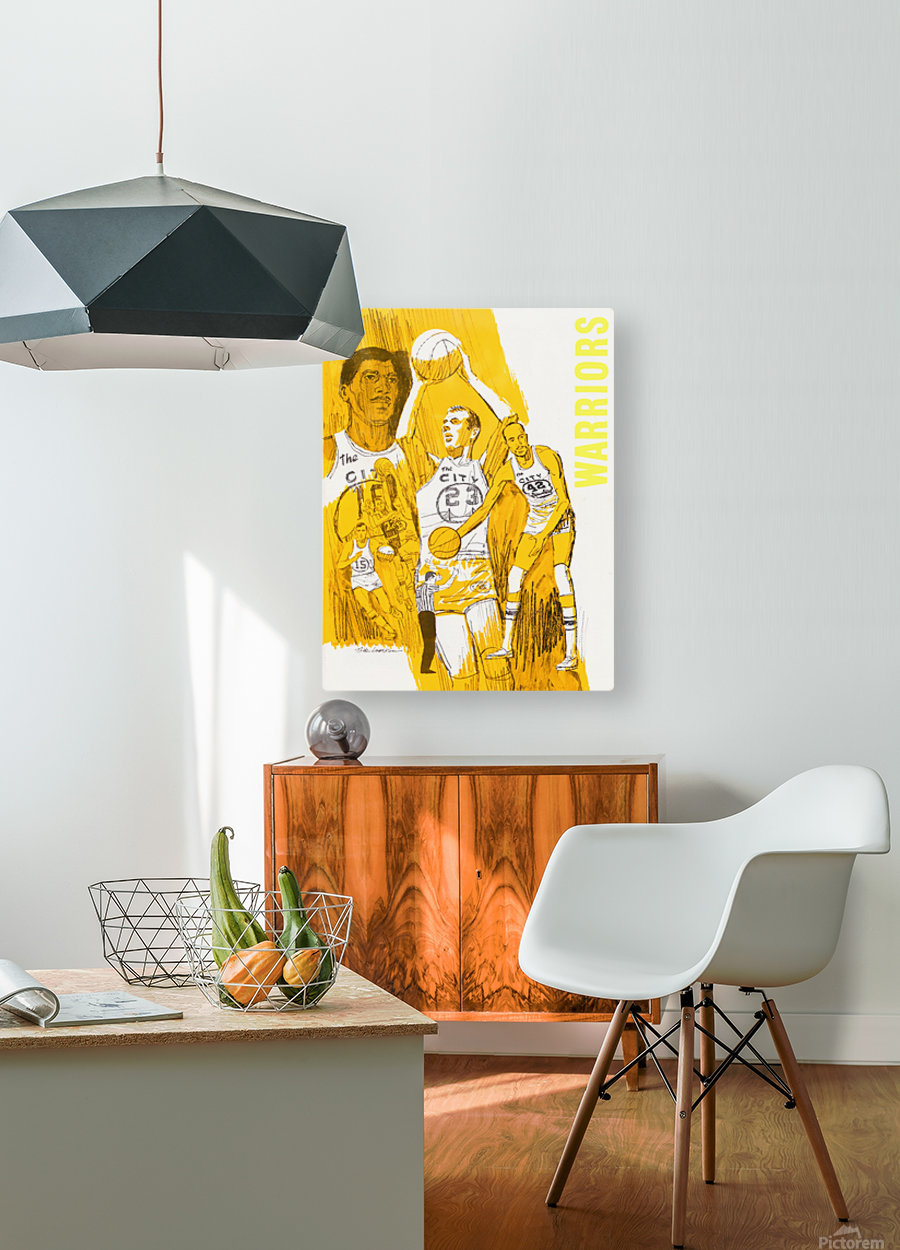 1969 San Francisco Warriors   HD Metal print with Floating Frame on Back