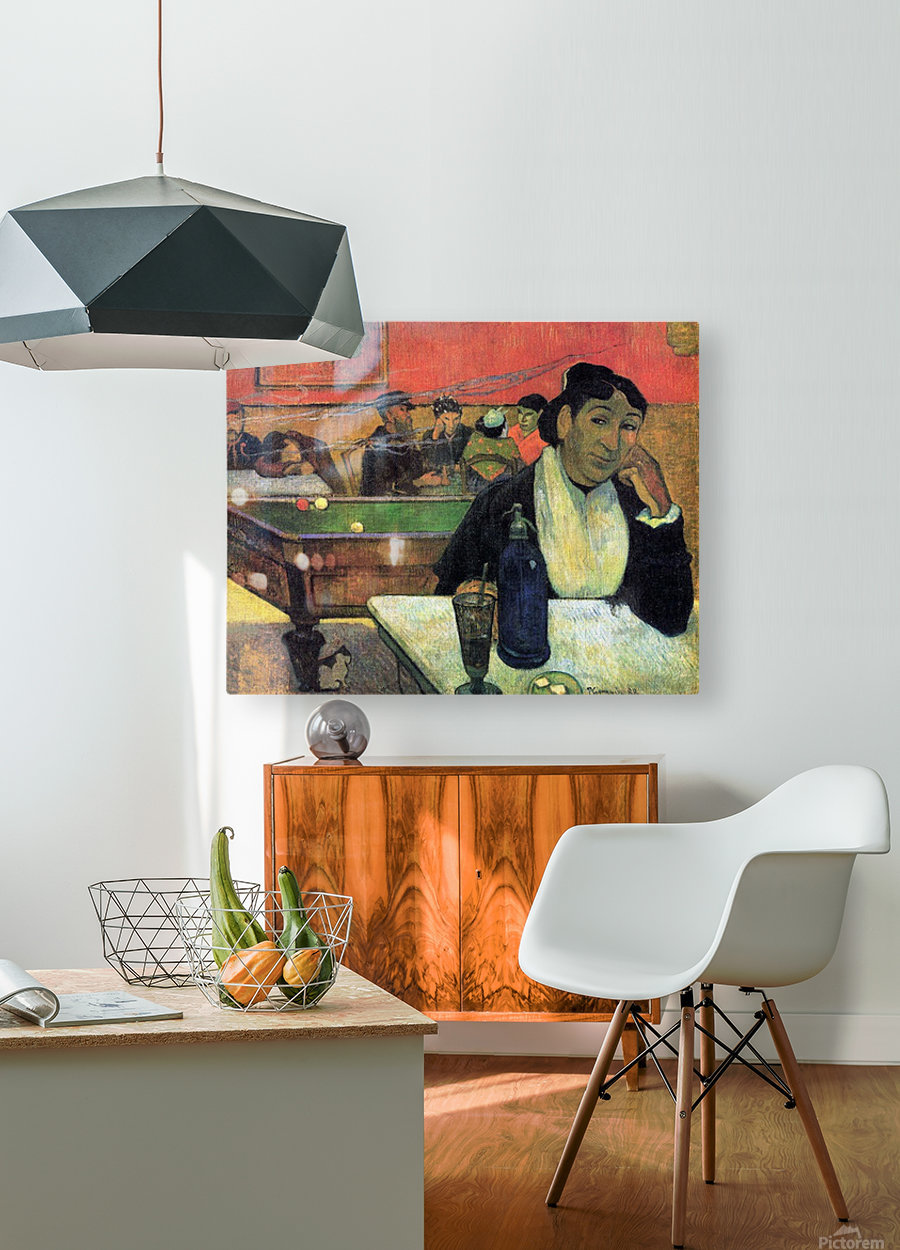Madame Ginoux in Cafe by Gauguin  HD Metal print with Floating Frame on Back