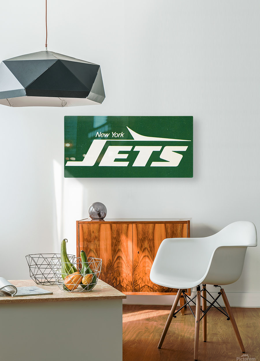 1981 new york jets reproduction artwork  HD Metal print with Floating Frame on Back