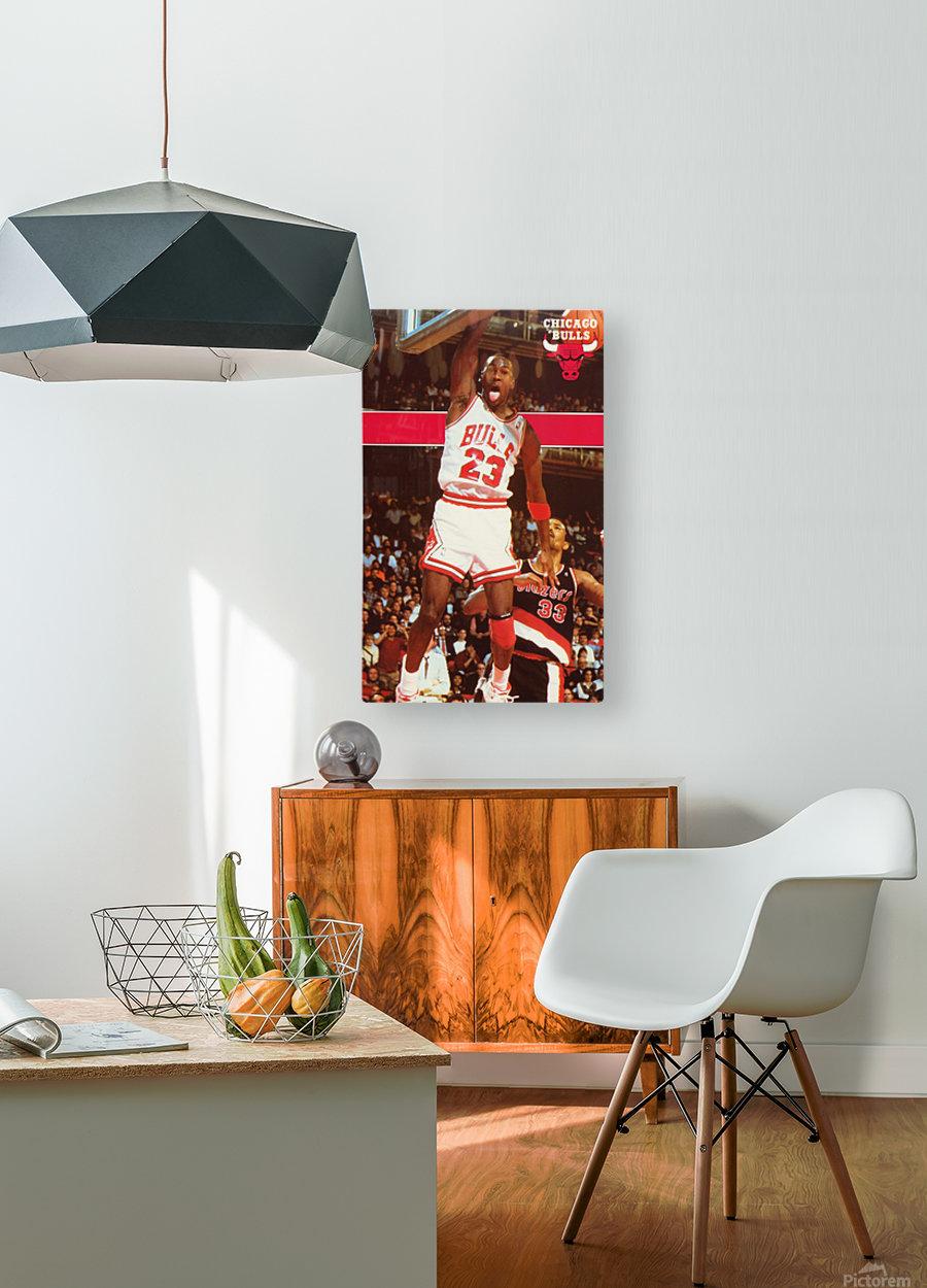 1987 michael jordan chicago stadium poster  HD Metal print with Floating Frame on Back