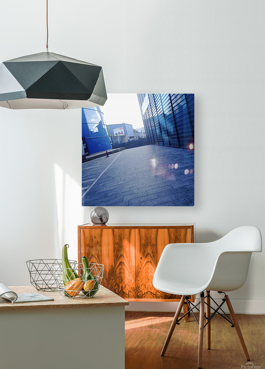 landspace  HD Metal print with Floating Frame on Back
