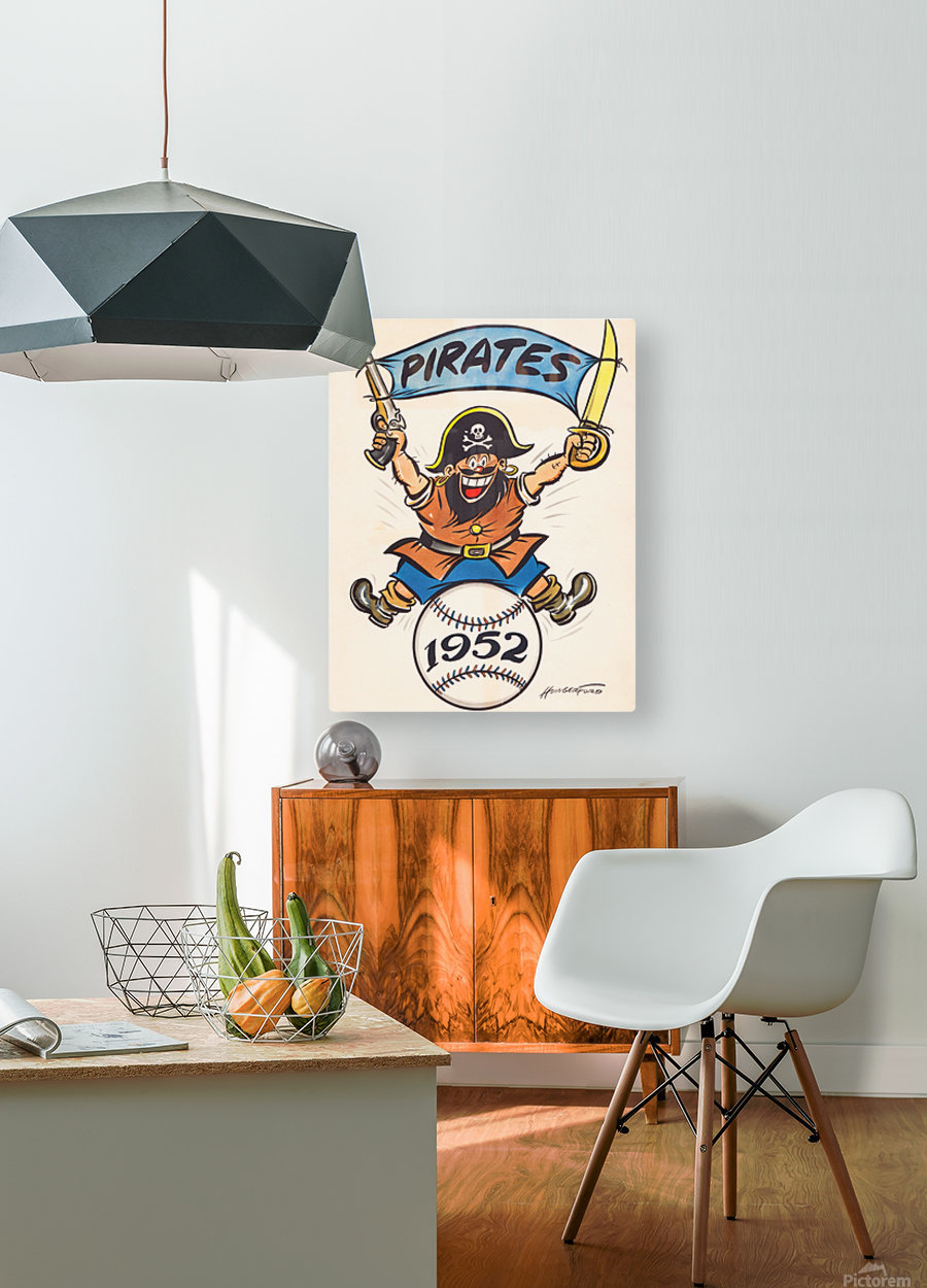 1952 pittsburgh pirates artist cy hungerford  HD Metal print with Floating Frame on Back