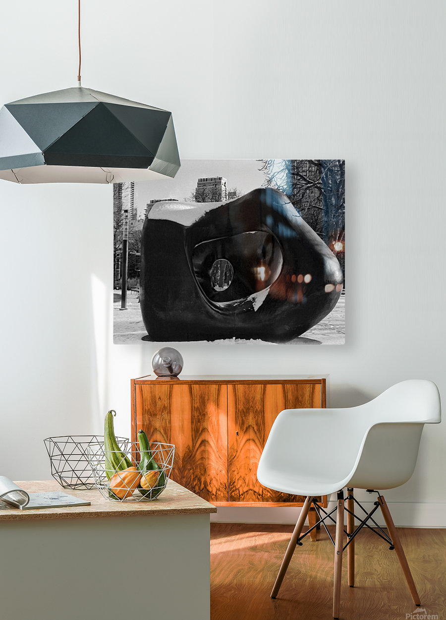 Two Large Forms at Grange Park 2  HD Metal print with Floating Frame on Back