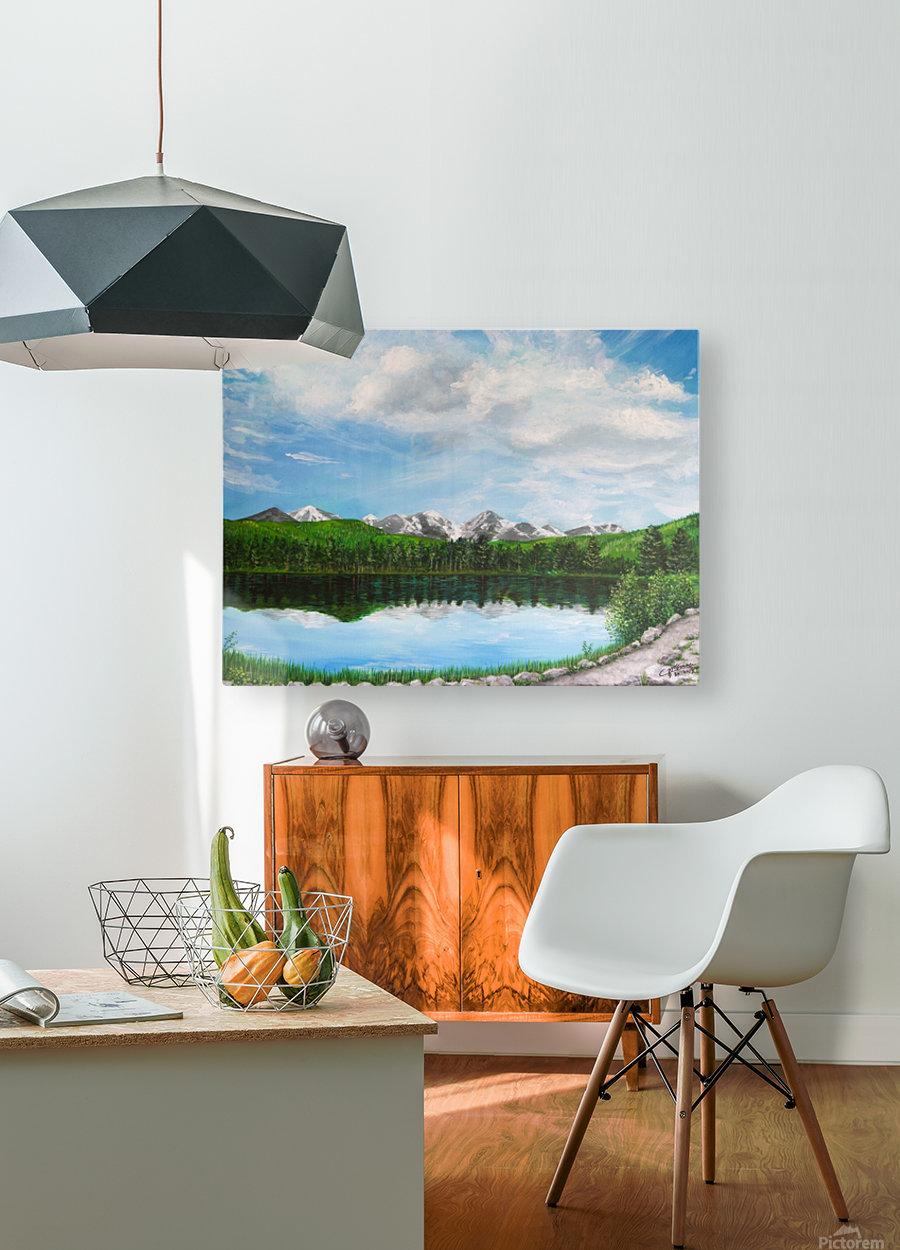 Sprague Lake CO  HD Metal print with Floating Frame on Back