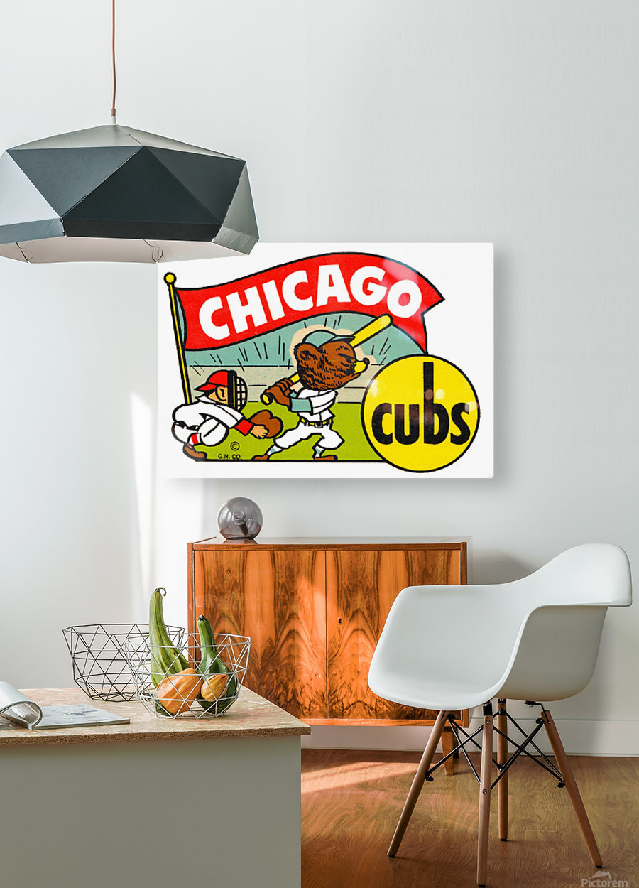 1960s chicago cubs art  HD Metal print with Floating Frame on Back