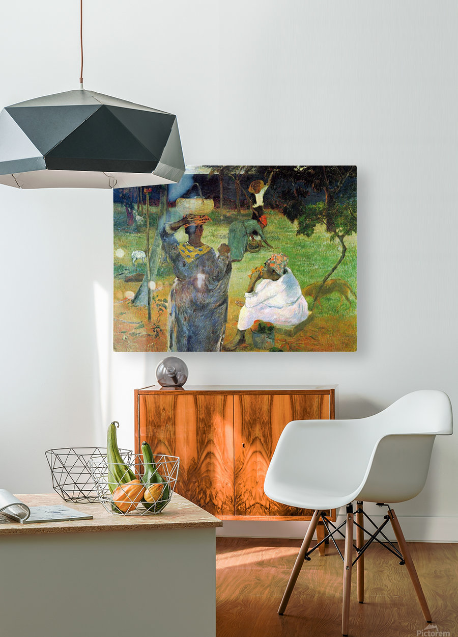 Mango Fruit by Gauguin  HD Metal print with Floating Frame on Back
