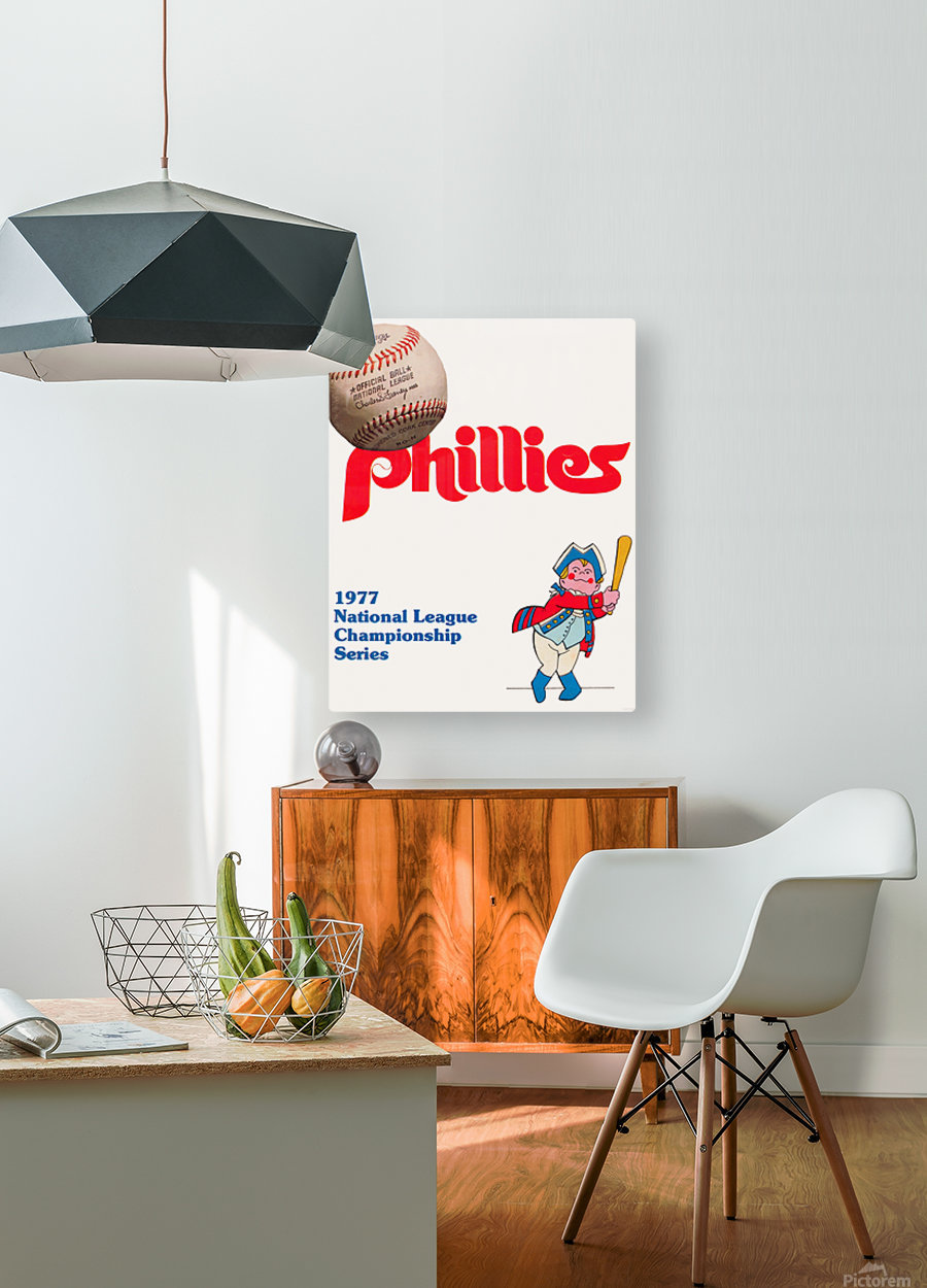 1977 philadelphia phillies national league championship series poster  HD Metal print with Floating Frame on Back