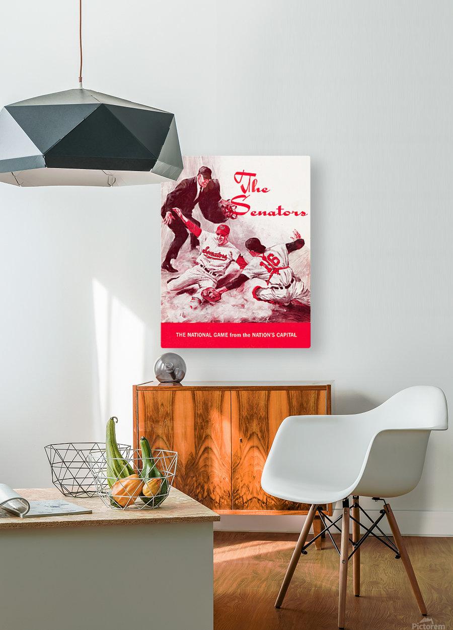 1968 washington senators baseball art  HD Metal print with Floating Frame on Back