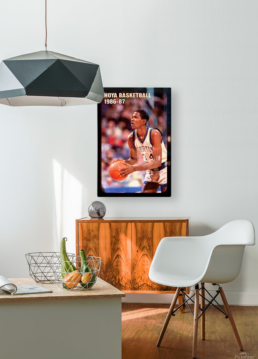 1986 georgetown hoyas basketball reggie williams poster  HD Metal print with Floating Frame on Back