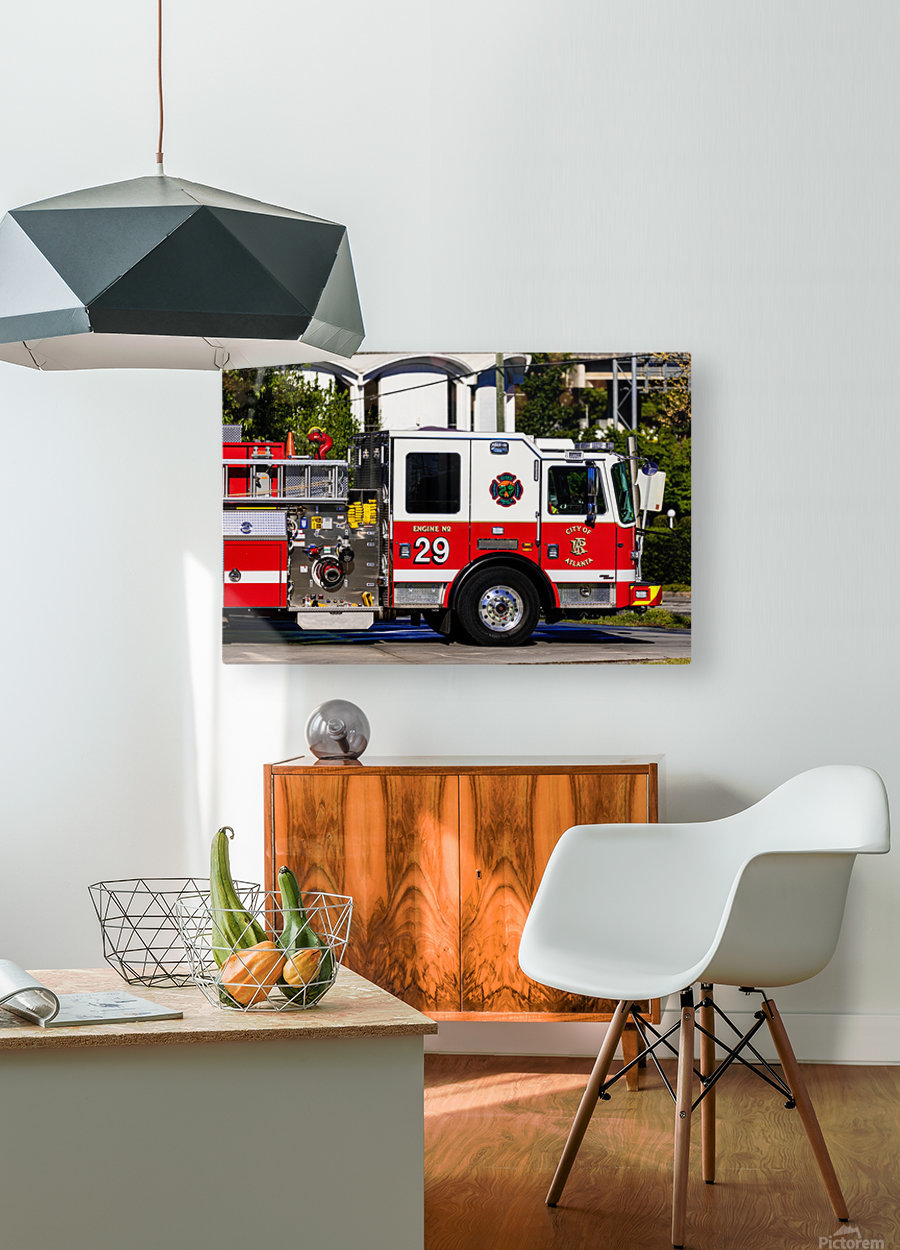 City of Atlanta Fire Engine No 29 6665  HD Metal print with Floating Frame on Back