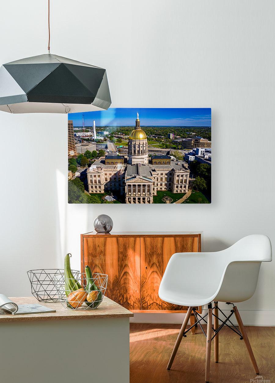 Georgia State Capitol Building   Atlanta GA 0639  HD Metal print with Floating Frame on Back