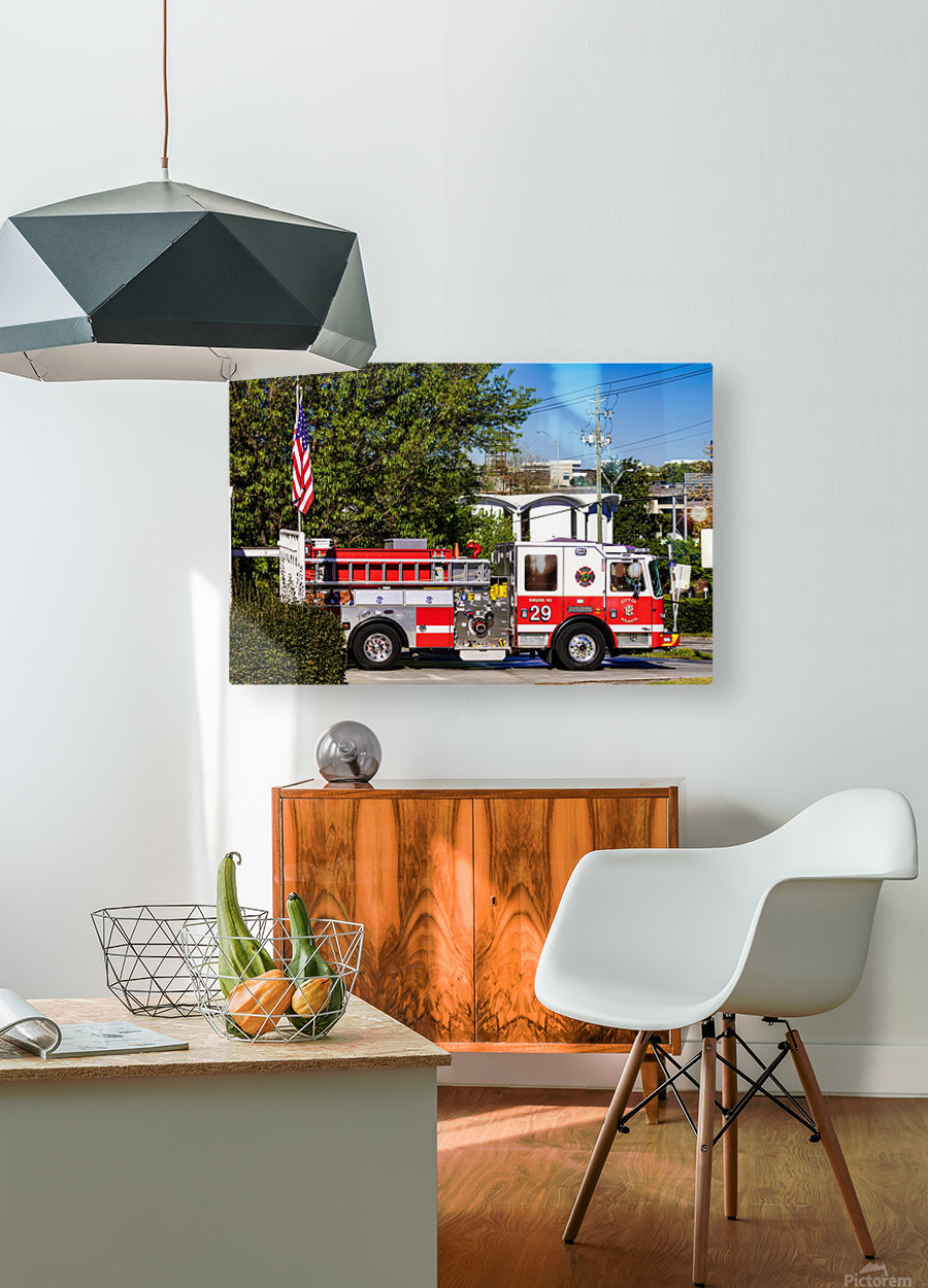 City of Atlanta Fire Engine No 29 6648  HD Metal print with Floating Frame on Back