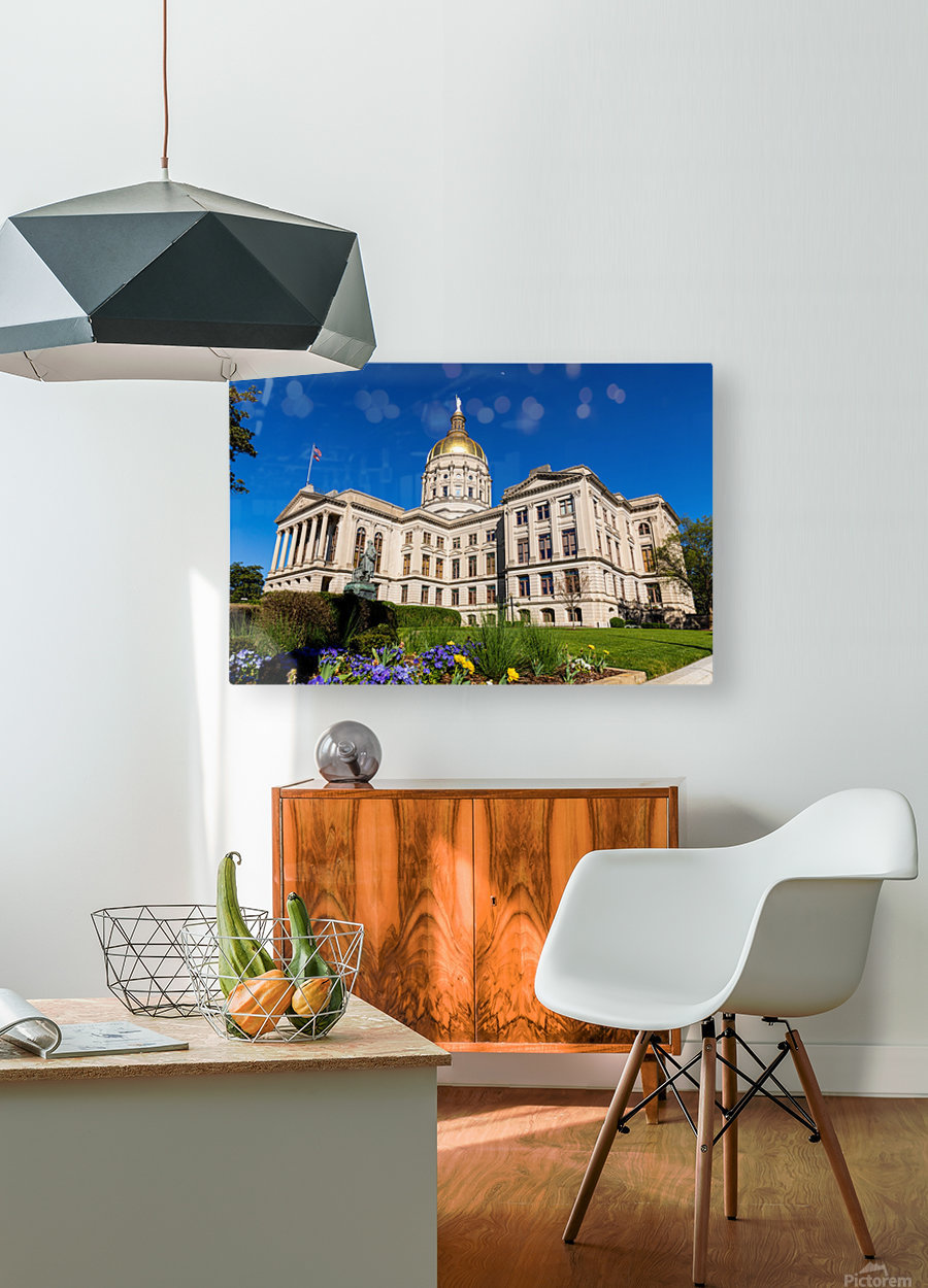 Georgia State Capitol Building   Atlanta GA 7236  HD Metal print with Floating Frame on Back