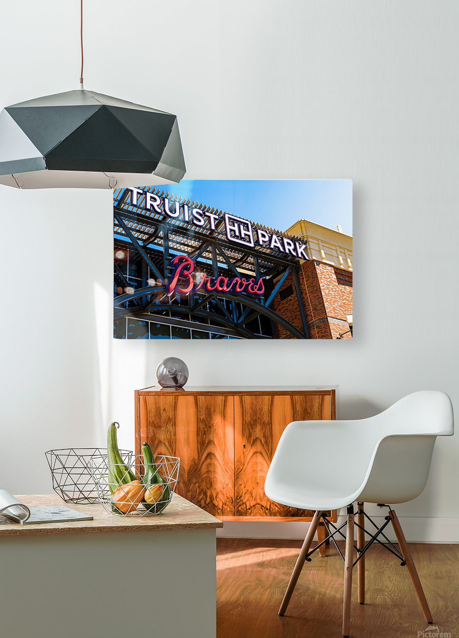 Truist Park   The Battery Atlanta GA 6718  HD Metal print with Floating Frame on Back