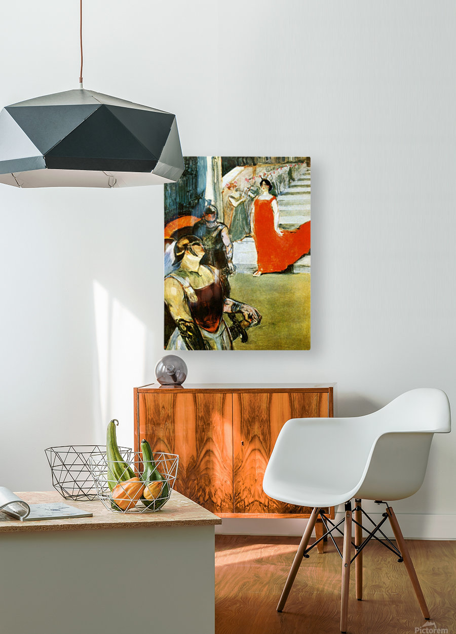 Messalina Descending by Toulouse-Lautrec  HD Metal print with Floating Frame on Back