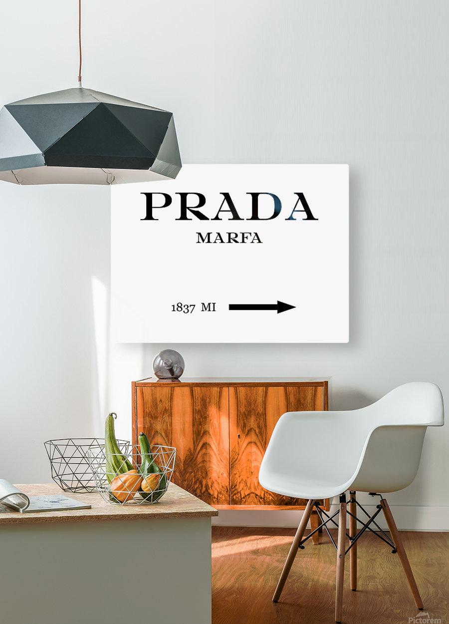 Prada Marfa Mileage  HD Metal print with Floating Frame on Back