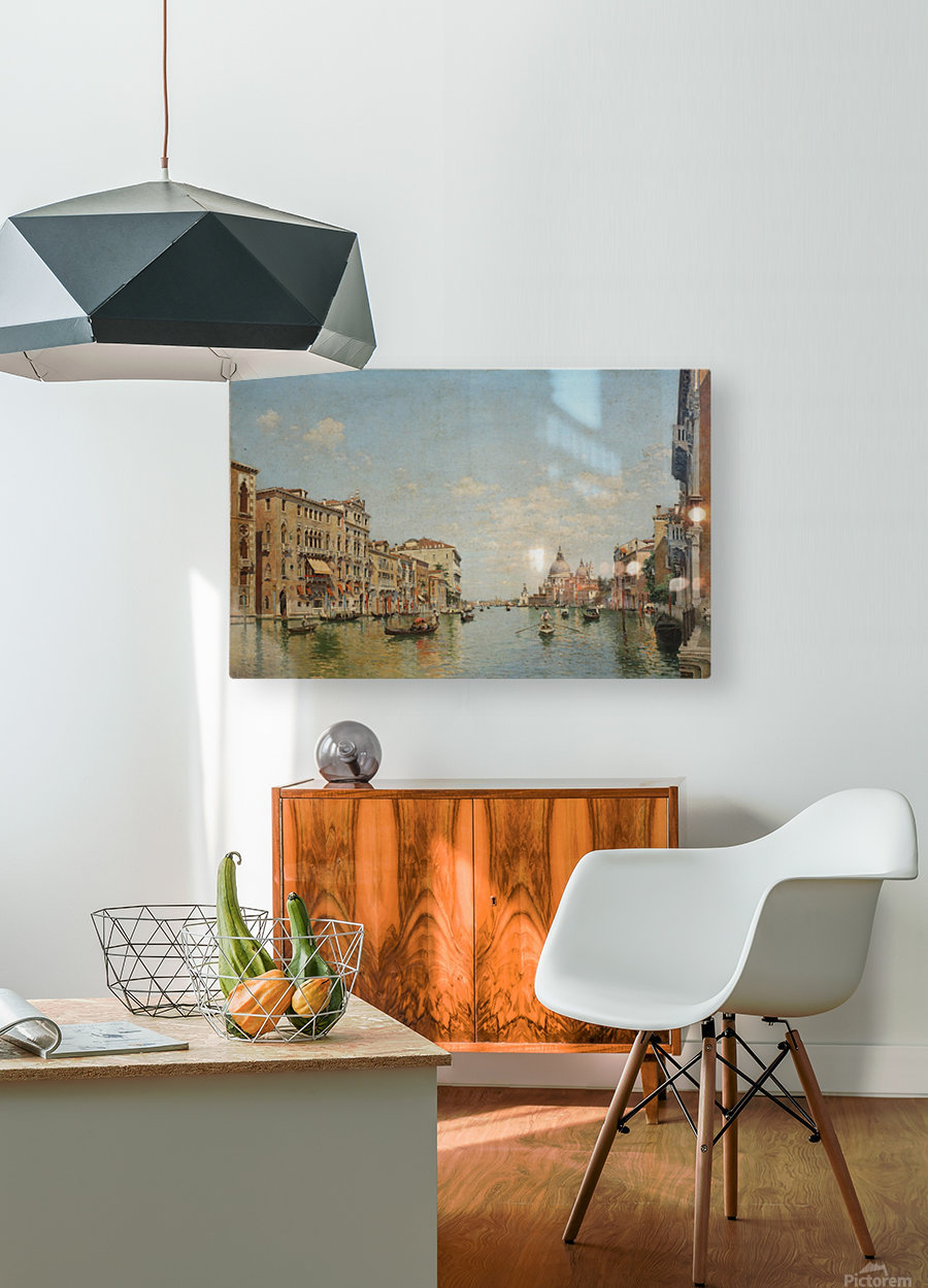 View of the Grand Canal of Venice  HD Metal print with Floating Frame on Back