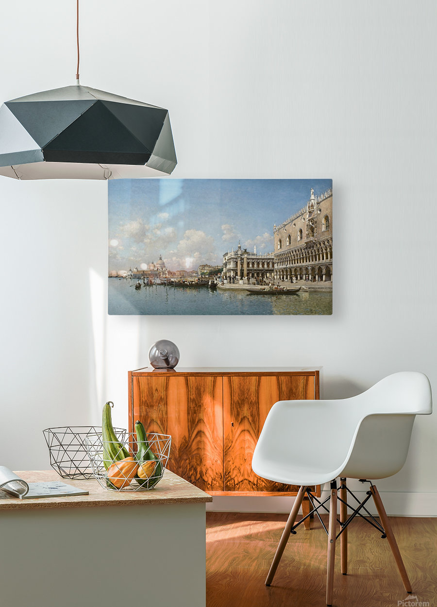 The Doge Palace and Santa Maria Della Salute  HD Metal print with Floating Frame on Back