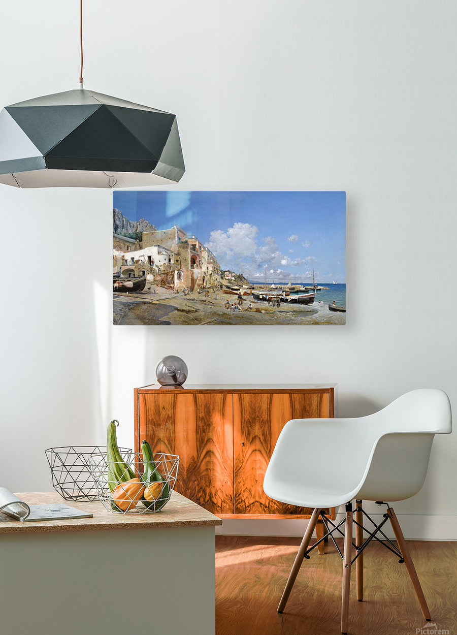 Italian coast  HD Metal print with Floating Frame on Back