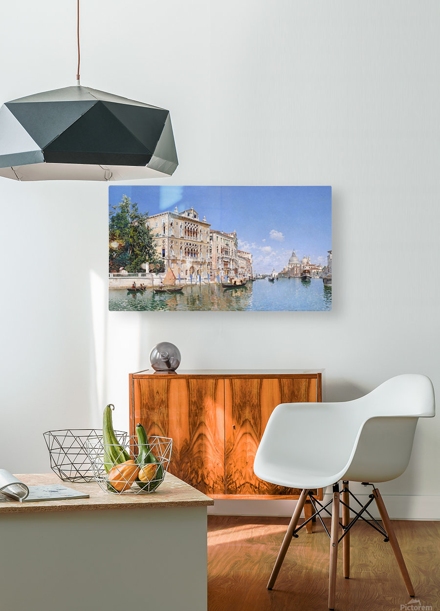 The Grand Canal Looking Towards Santa Maria Della Salute  HD Metal print with Floating Frame on Back