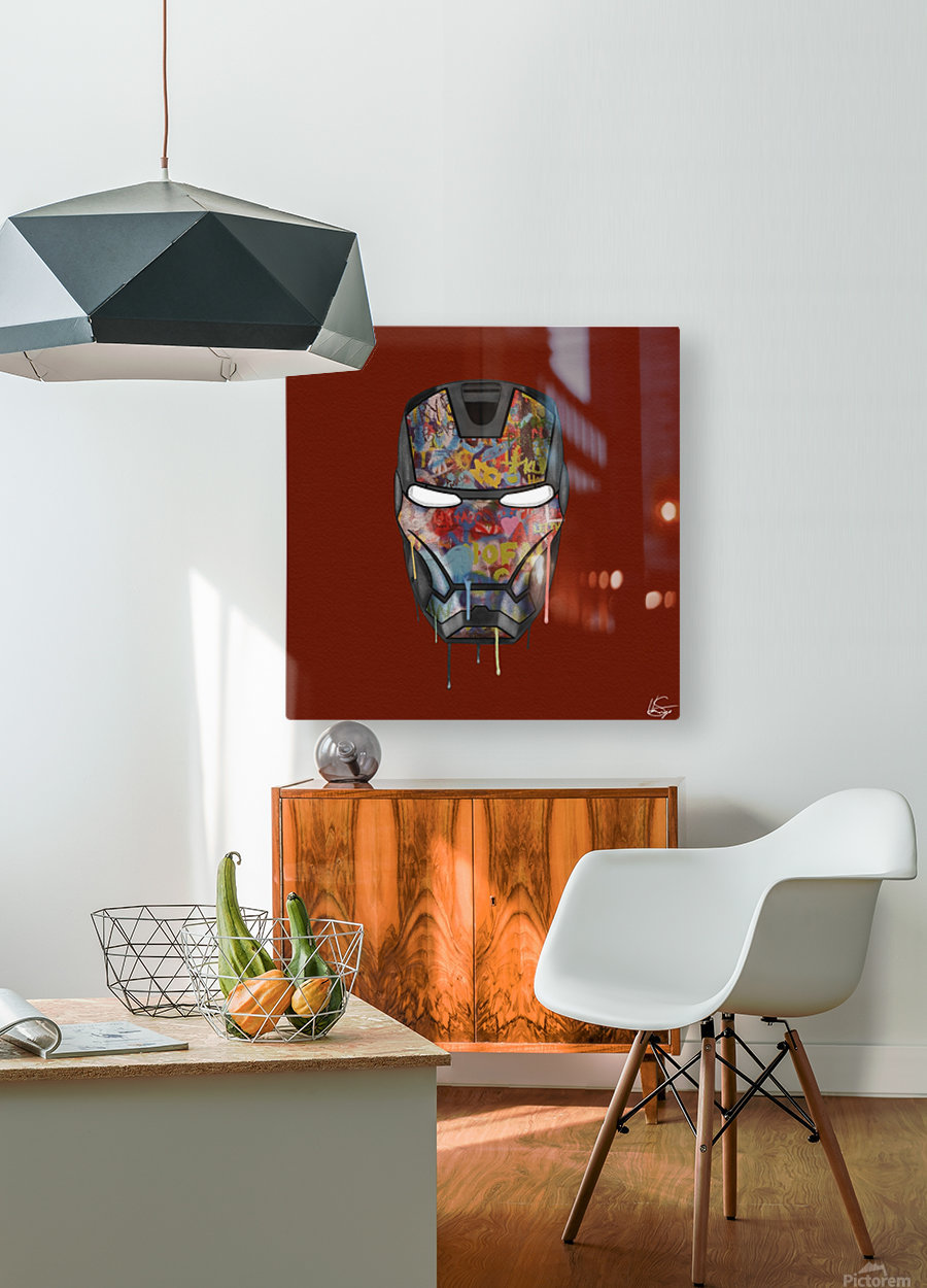 Iron Man  HD Metal print with Floating Frame on Back