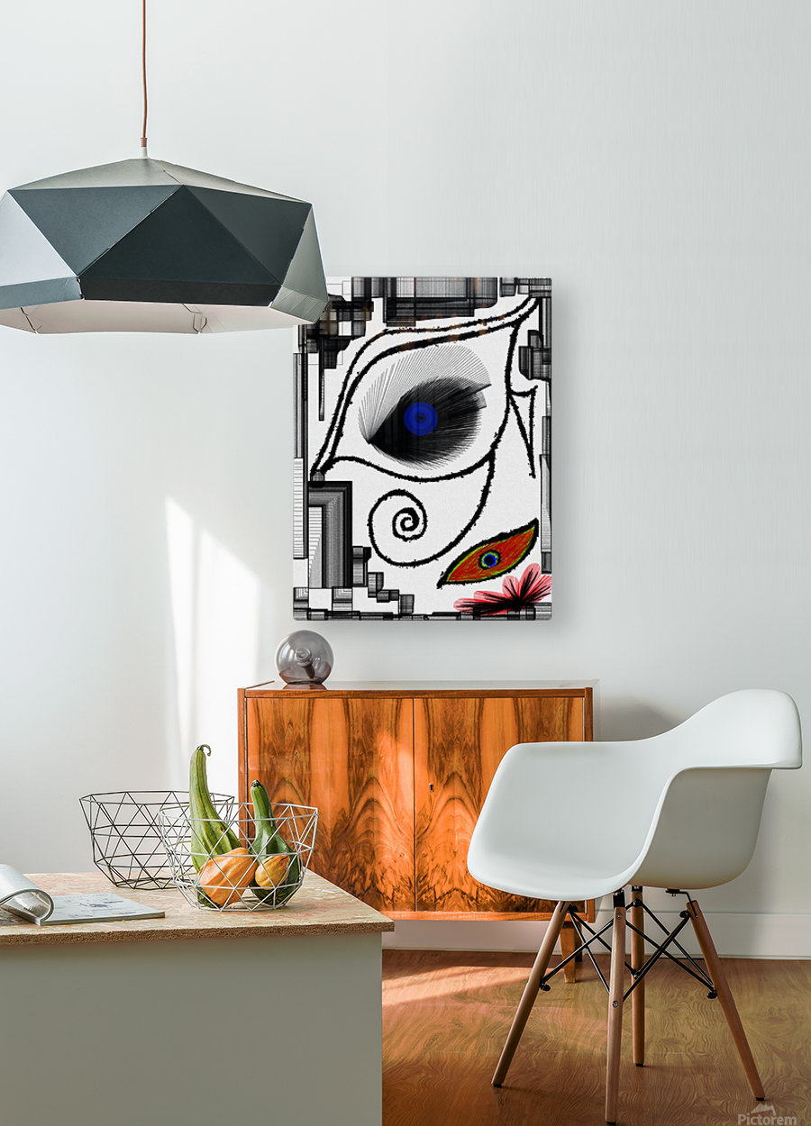 The Eye  HD Metal print with Floating Frame on Back