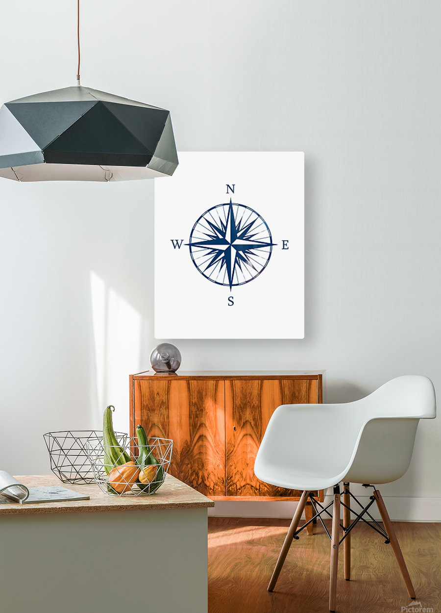 COMPASS ROSE  HD Metal print with Floating Frame on Back