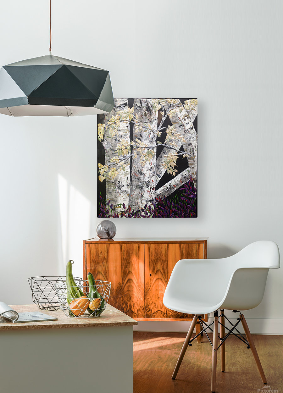 Shaded Birch  HD Metal print with Floating Frame on Back