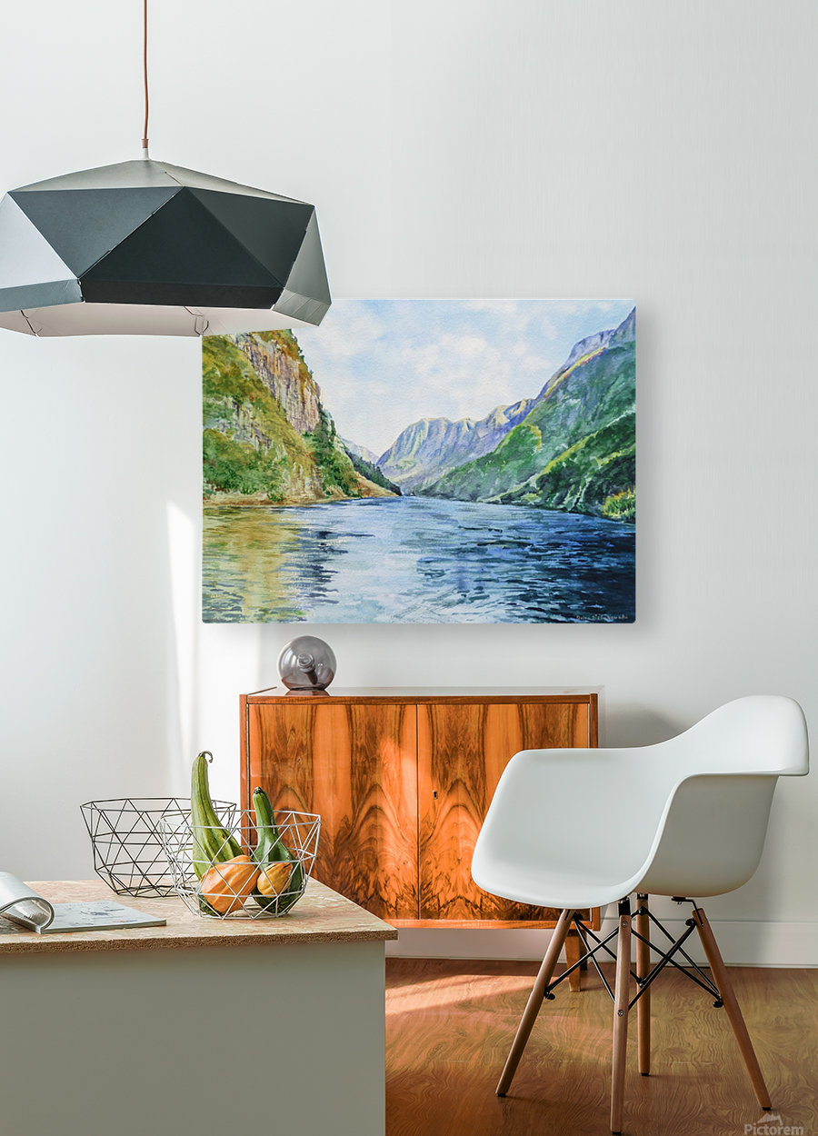 Norway Fjord  HD Metal print with Floating Frame on Back