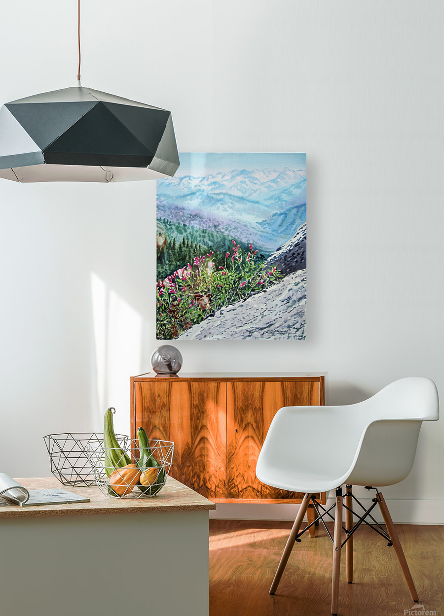 Mountains Of Sequoia   HD Metal print with Floating Frame on Back