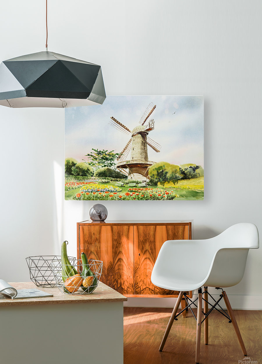 Dutch Windmill in San Francisco   HD Metal print with Floating Frame on Back
