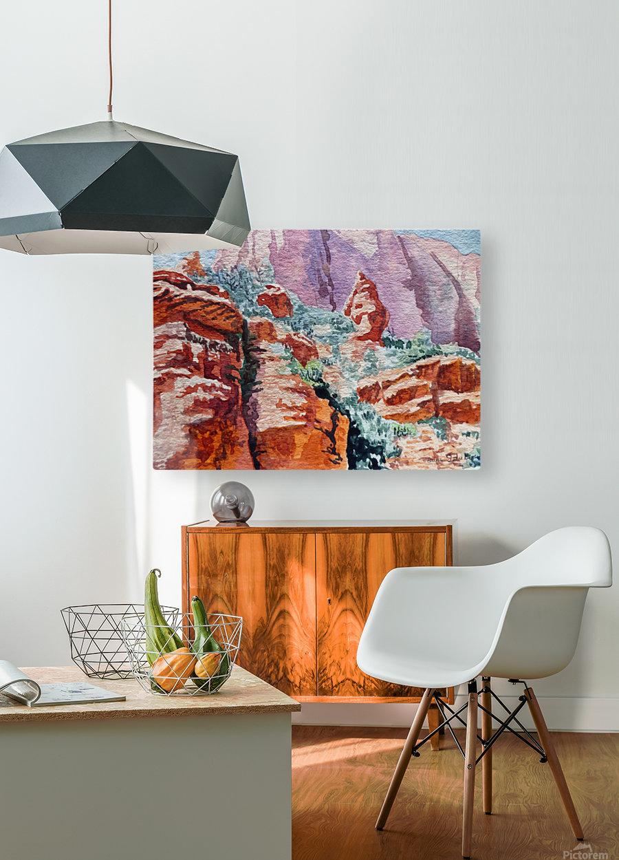 Sedona Arizona Rocky Canyon  HD Metal print with Floating Frame on Back