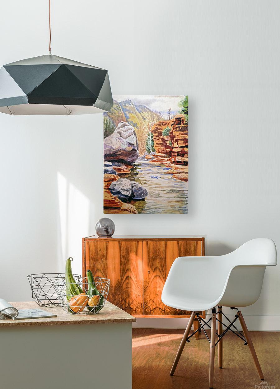 Sedona Arizona Slide Creek  HD Metal print with Floating Frame on Back