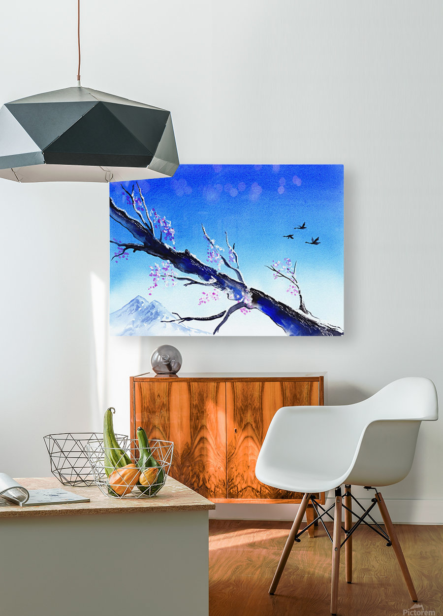 Spring In The Mountains  HD Metal print with Floating Frame on Back