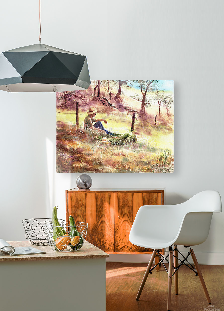 Farmers And Hunters Heaven  HD Metal print with Floating Frame on Back