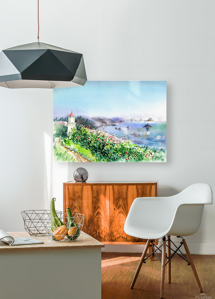 Lighthouse Trinidad California  HD Metal print with Floating Frame on Back