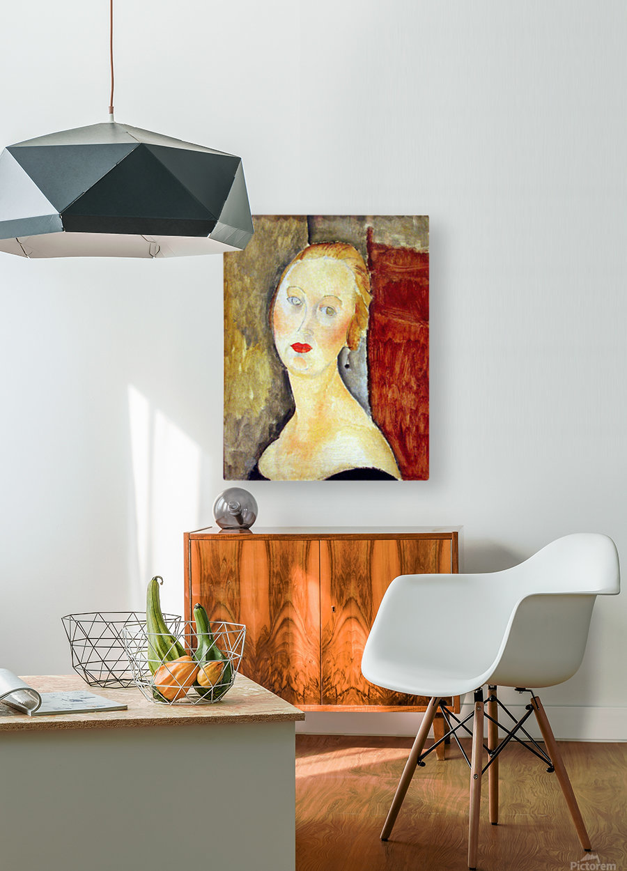 Modigliani - Portrait de Germaine Survage  HD Metal print with Floating Frame on Back