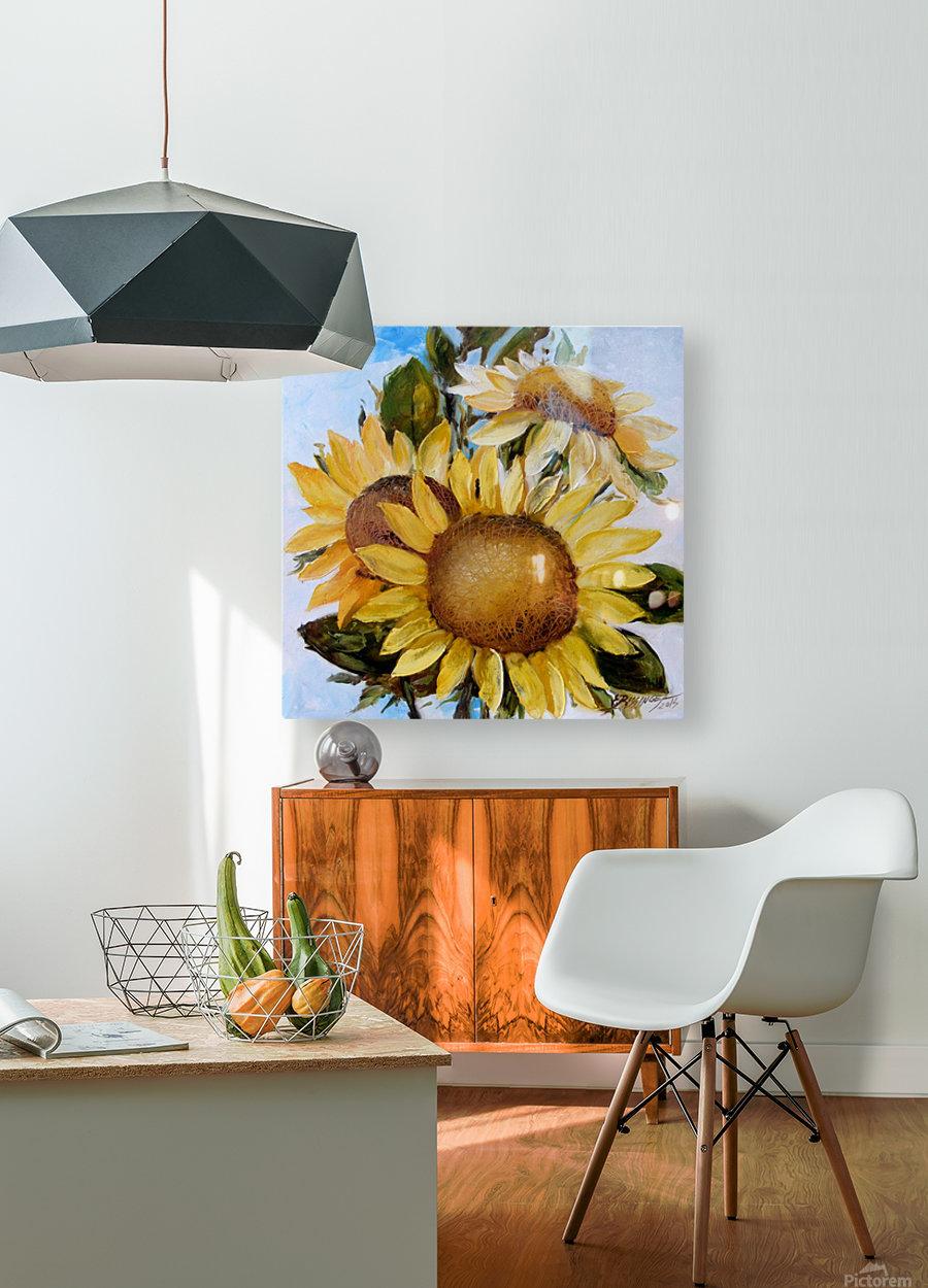 Floarea soarelui  HD Metal print with Floating Frame on Back